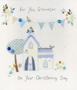 Grandson Christening Card